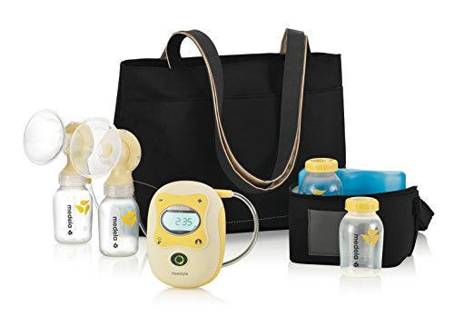 Medela Freestyle Double Electric Breast Pump, Hands Free Breastpump, Rechargeable Battery, Lightweight, Digital Display with Memory Button, Lactation Support
