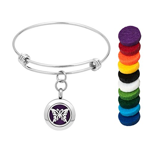 Cory Keyes Dog Paw/Angel Wings/Cross/Butterfly Aromatherapy Essential Oils Diffuser Magnetic Bangle Locket Bracelet