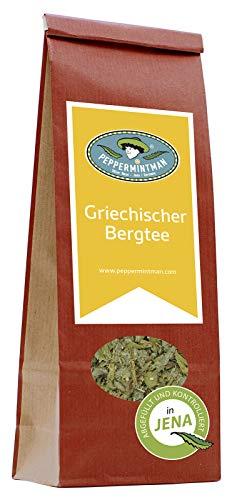 Griechischer Bergtee - hocharomatisch - laborgeprüft in Deutschland - lose, getrocknet – PEPPERMINTMAN – Tee mit Premiumqualität, griechischer Ursprung (60g)