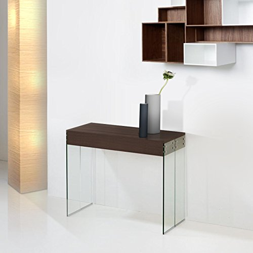giovanni marchesi design Console Extensible, Bois, Metal, Wengue, Taille Unique