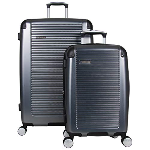 Ben Sherman Leicester 20 Lightweight Durable Hardside 4-Wheel Spinner Carry-On Luggage Black With Gray
