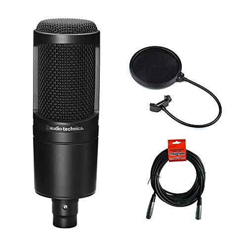 Audio Technica AT2020 Condenser Studio Microphone Bundle