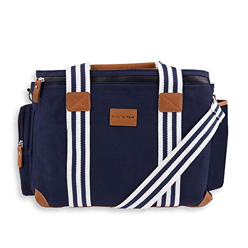 Baby K'tan Weekender Bag - Large Diaper Bag with Baby Changing Pad - Navy