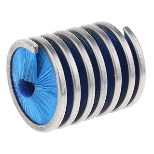 Fuerte Cuerda de escalada cepillo de limpieza cuerda de escalada cepillo limpiador de herramientas mantenimiento de herramientas, Escalada Alpinismo Espeleología Descenso Durable ( Color : Blue )