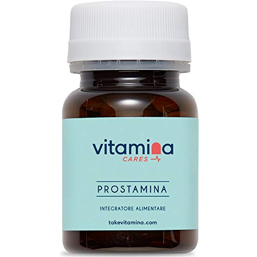 VITAMINA CARES® | PROSTAMINA + Portapillole Omaggio | Integratore alimentare per la funzionalità prostatica a base di Serenoa | 60 compresse da 850 mg | Lattosio e Gluten FREE | Prodotto Italiano