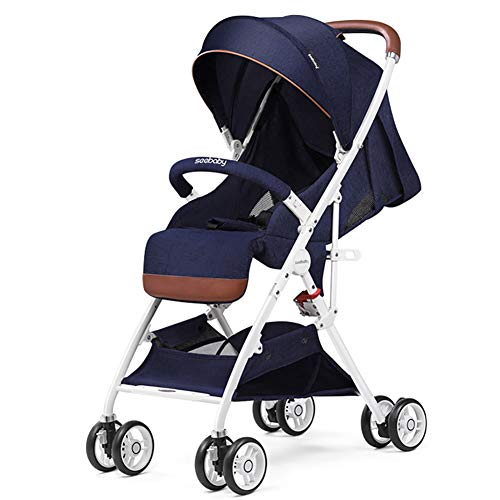 Find Bargain WANGLXST Foldable Anti-Shock Baby Stroller, High View Carriage Infant Pushchair Pram Co...