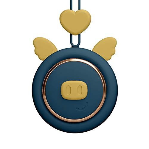 Memea Ventilador de cuello USB recargable Mini ventilador sin hojas, forma linda silenciosa y fácil de llevar, adecuado para la oficina al aire libre dormitorio fresco