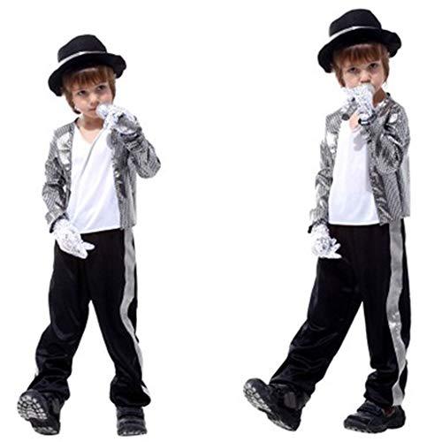 Kinderen Michael Jackson Kostuum Halloween Masquerade Partij Willekeurige Dans Ghost Stap Jongen aankleden Kinderen Cosplay Kleding