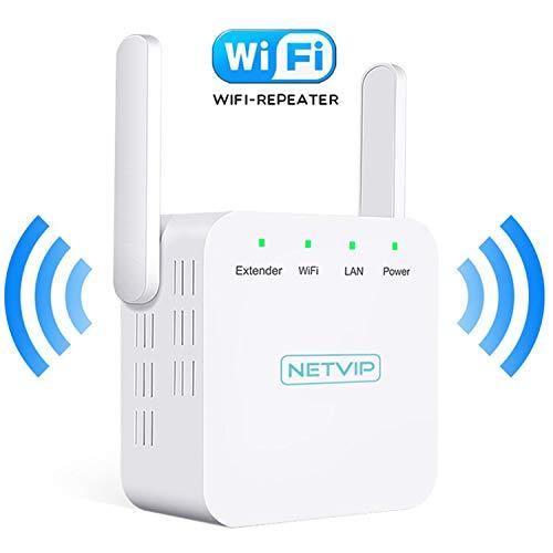 NETVIP WiFi Repetidor de Red WiFi Amplificador 300Mbps Extensor WiFi Booster de...