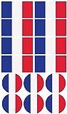 Haberdashery Online 28 Pegatinas de la Bandera de Francia. Stickers para Bicicletas, Motos, Accesorios (Francia)