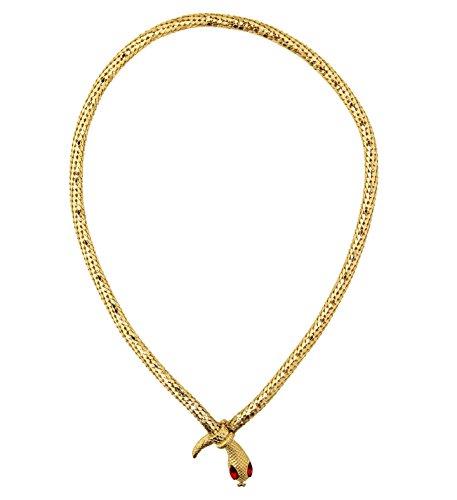 shoperama Cadena serpiente dorada con ojos rojos, accesorio para disfraz para Egipterina Kleopatra Faraonina