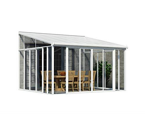 Palram Sanremo Veranda Wintergarten, weiß, 382 x 435 x 310 cm