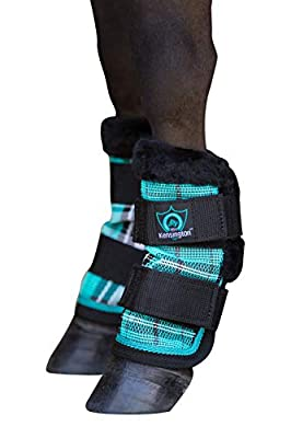 Kensington KPP Miniature Horse Fly Boots - Fly Pony Horse Boots Perfect for Equine Leg Wraps and Maximum Horse Fly Protection