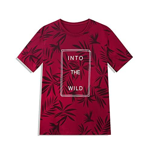 SSBZYES Camisetas para Hombre Camisetas De Verano De Manga Corta Letras Impresas para Hombre Algodón Puro De Manga Corta Cuello Redondo De Moda Camiseta Suelta Simple