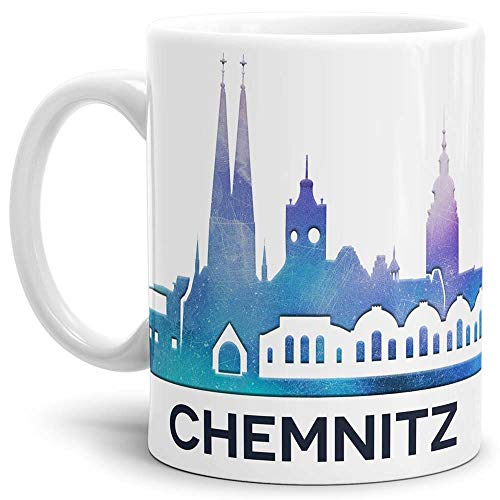 Tassendruck Chemnitz-Tasse Skyline - Kaffeetasse/Mug/Cup - Qualität Made in Germany