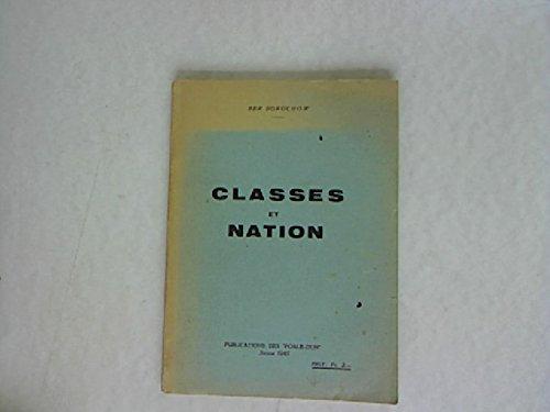 Classes et Nation. L ideologie des