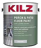 KILZ L573611 Interior/Exterior Enamel Porch and Patio Latex Floor Paint, Low-Lustre, Silver Gray, 1-Gallon, 1 Gallon, 4 l