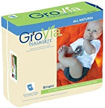 GroVia Disposable BioSoaker Pad for Baby Cloth Diapering (50 count)