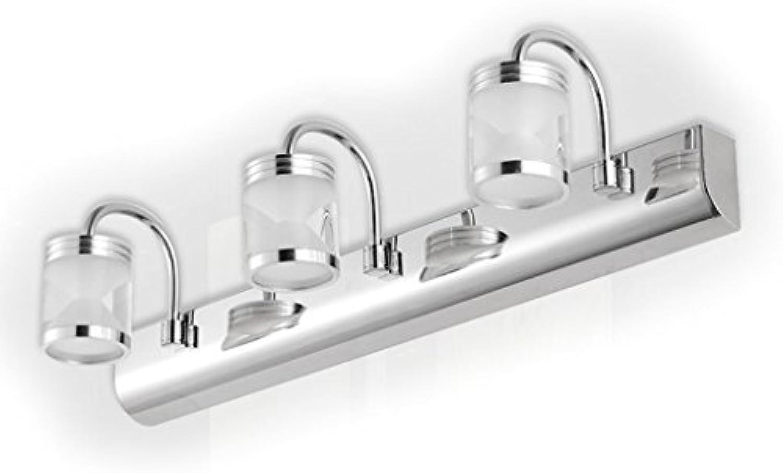 LED-Spiegellampe Scheinwerfer Edelstahl Spiegel modernen minimalistischen (Farbe   Wei-46cm)