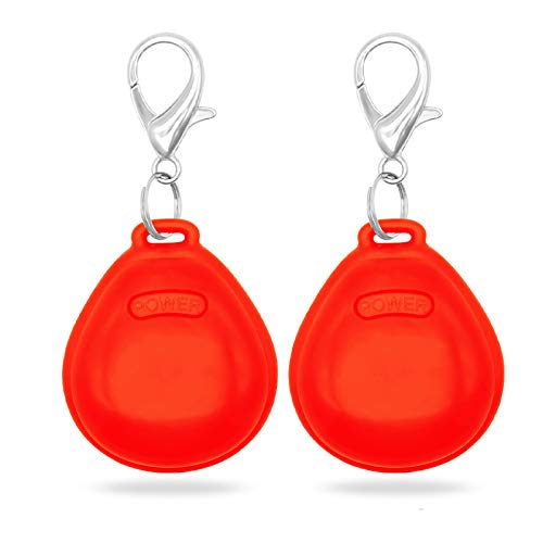 Higo LED Dog Tag, Pack of 2PCS Light Up Clip-On Flashing Pet ID Tags, Glow in The Dark Dog Safety...