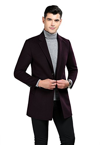 Icegrey heren heren winterjas slim fit wol mantel business parka overtrekker slank lange windbreaker jassen trenchcoat