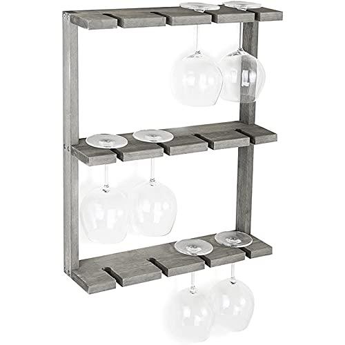 Estante de vidrio de vino, estante de vino de pared de madera, estante de vino de pared, estante de pared de vino creativo