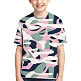 XCNGG Niños Tops Camisetas Youth Short Sleeve T-Shirts Colour Planet Kids Casual Graphics Tees