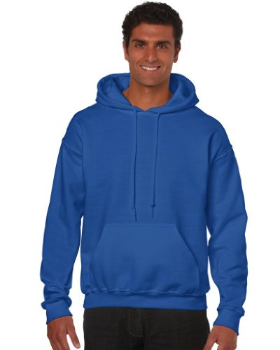 Gildan Herren Adult 50/50 Cotton/Poly. Hooded Sweat Sweatshirt, Blau (Royal), Small (Herstellergröße: S)