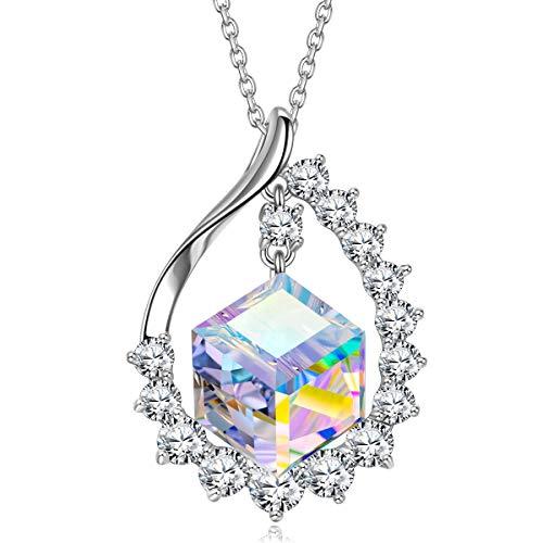 J.RENEÉ Kette Damen, Schmuck Damen, mit Aurora Kristall von Swarovski, Halskette Damen, Geschenke für Frauen