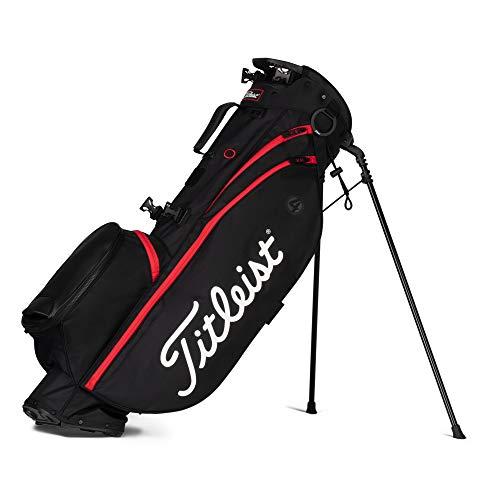 TITLEIST Players 4 Sac de Golf Homme, Noir Noir Rouge, Taille Unique