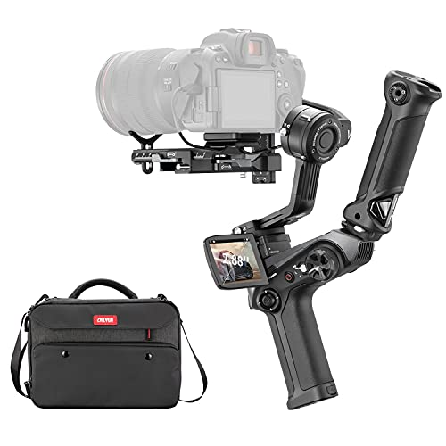Zhiyun Weebill 2 Combo,3-Axis Handheld Gimbal Stabilizer w/Carry Bag and handgrip, for DSLR Camera Mirrorless Cameras Professional Video Stabilizer Compatible with Sony Nikon Canon Panasonic LUMIX