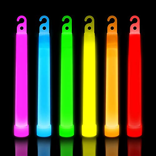 30 Ultra Bright Glow Sticks - Emergency Light Sticks for Camping Accessories, Parties, Hurricane Supplies, Earthquake, Survival Kit and More - Lasts Over 12 Hours (Multi Color)