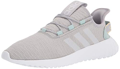adidas Men's Kaptir Running Shoe, Grey/White/Green Tint, 9