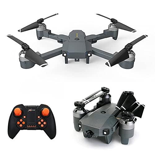Drone con cámara Mini Drone Plegable con cámara HD 720P FPV WiFi RC Quadcopter, Control de Gestos, trayectoria de Vuelo, Vuelo Circular, rotación de Alta Velocidad, Volteretas 3D, Sensor G, Mo