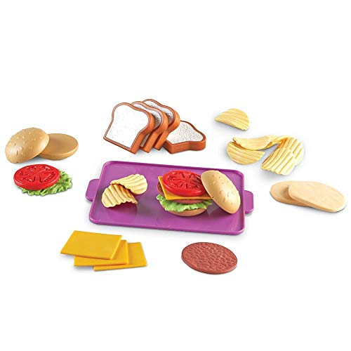 Learning Resources New Sprouts Super Sandwich Set, Pretend Play, Play Food Set, 29 Pieces, Ages 18 mos+
