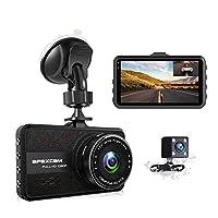 Apexcam Dash Cam Telecamera per Auto FHD 1080P 3 Pollici con Grandangolare