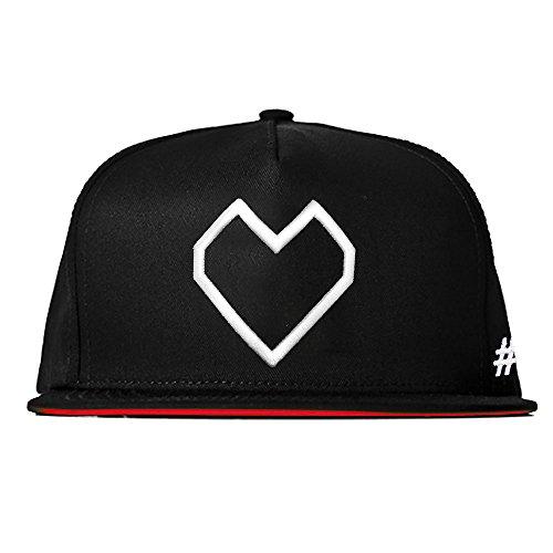 Hashtagstuff Snapback mit Spruch/Verschiedene Sprüche auswählbar/Schwarz/Rot/Baseball Cap/Basecap/Kappe/Lustig/Quote/verstellbar Heart One Size