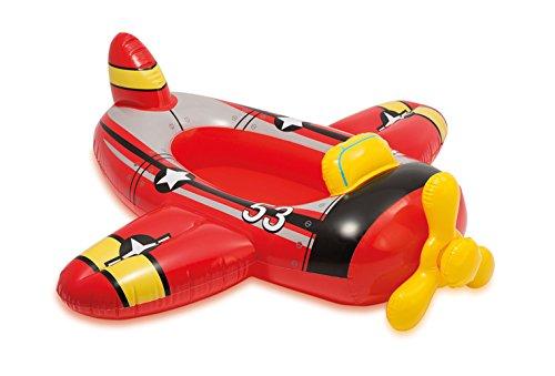 Haberkorn Intex - Barca hinchable para niños en 3 diseños (rojo/avión)