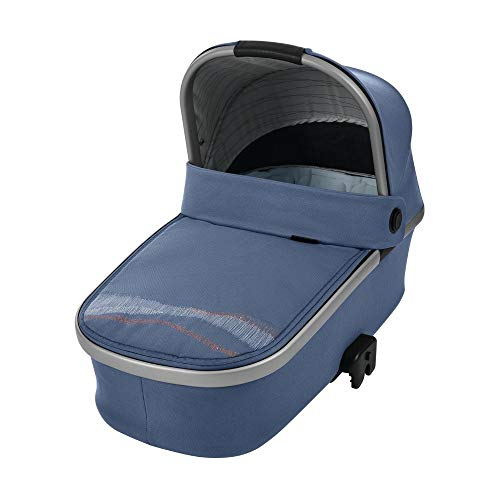 Maxi-Cosi Oria Babywanne, groß, bequem und federleichter Kinderwagenaufsatz, geeignet für Maxi-Cosi-Kinderwagen/Buggys, nutzbar ab der Geburt - 6 Monate, (ca. 0-9 kg), frequency blue