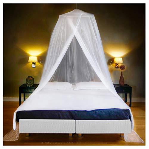 Luxury Mosquito Net Bed Canopy, Ultra Large: for Single To King Size, Quick Easy Installation, Finest Holes: Mesh 380,...