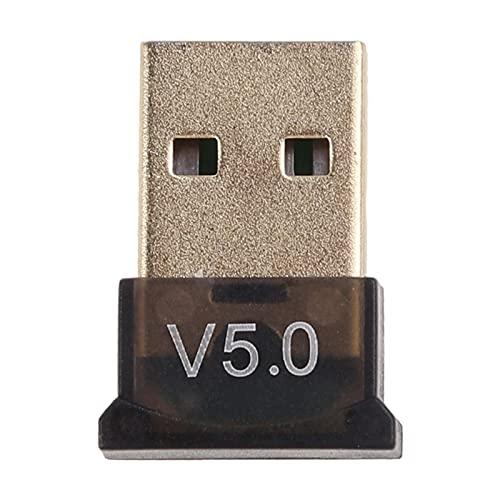 xllLU USB Micro Mini EDR Dongle Adaptador Bluetooth compatible 5.0 para computadora de escritorio Windows Wireless Transfer 5.0 transmisor receptor de audio