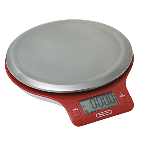 Farberware Professional Stainless Steel Digital Kitchen Scale, Red