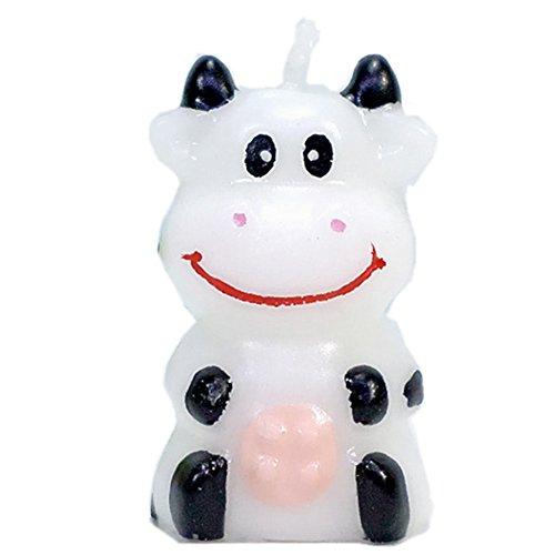 Birthday Candles Gifts Cake Decorations Cute Cartoon Animal Party Decorations for Birthday Party (Little Cow)