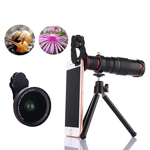 NNBB Kit de la cámara Lente de Zoom para teléfonos móviles, HD 22x telescopio óptico del trípode de la Lente de Zoom para la mayoría de los teléfonos móviles