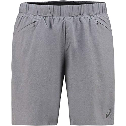 ASICS 2-n-1 7 In Short 2011a239-0773 Camiseta, Gris (Grey 2011a239/0773), Large para Hombre