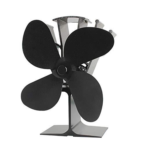 CLX stroomloze ventilator van open haard ventilator stroomloos - ventilator voor houtkachels - kachelventilator voor optimale verdeling van de lucht (4 bladen)