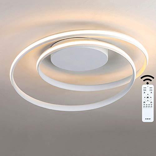 Tnxi LED Deckenleuchte Moderne ovale Ringe Stil Lampe Aluminium-Silikon-Material Φ46×12CM(40W)/Φ60×15CM(50CM) für Wohnzimmer Kinderzimmer Schlafzimmer Esszimmer Küche Weiß dimmbar 3000K-6000K
