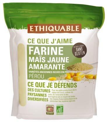 Ethiquable Farine Maïs Jaune Amarante Pérou Bio 400 g