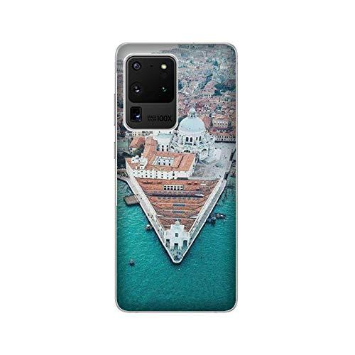 Funda Galaxy S20 Carcasa Compatible con Samsung Galaxy S20 Ciudades Italianas Venecia/Imprimir también en los Lados. / Teléfono Hard Snap en Antideslizante Antideslizante Anti-Rayado Resistente a