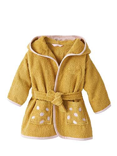 Vertbaudet Albornoz para bebé, diseño de jirafa amarillo mostaza 92 cm